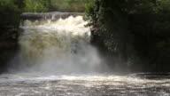 MS Shot of waterfall / Tangara da Serra, Mato Grossso, Brazil