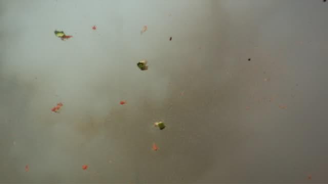 CU SLO MO Shot of watermelon exploding / United Kingdom