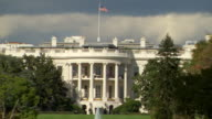 MS Shot of White House and front lawn with water fountain / Washington, District of Columbia, United States