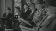 MS Shot of women's singing song with pianist