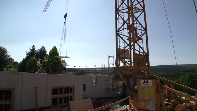 ... at house construction / Hermeskeil, Rhineland-Palatinate, Germany