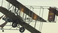 ECU ZO AERIAL Shot of Wright B Flyer airplane / Dayton, Ohio, United States