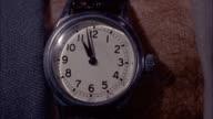 CU Shot of wrist watch / Unspecified