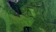WS AERIAL shot of Wulong Karst Landform,Chongqing, China