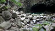 MS AERIAL Shot over bidulginang falls (Natural Monument) / Pocheon, Gyeonggi-do, South Korea