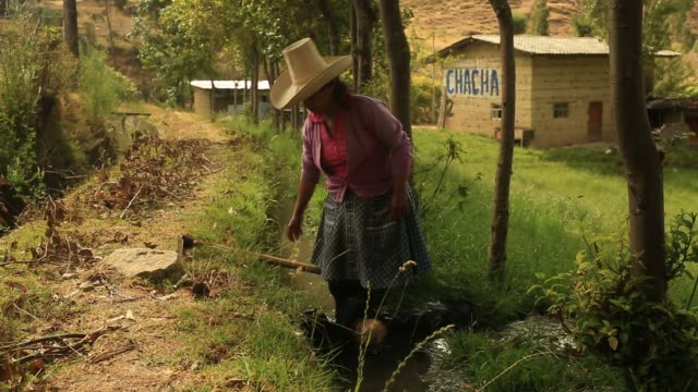 Shots focus on farmers farmland and depleted groundwater in Cajamarca Peru caused by drilling at the Yanacocha gold mine shot on October 26th 2015...