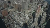 Shots from the new One World Observatory atop One World Trade Center in Lower Manhattan NY USA Shot May 26 2015 Shots Various shots look down from...