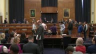Shots include members of Code Pink before hearing on ways to pressure North Korea after possible thermonuclear test was conducted members on the...
