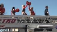 Shots of Broncos Superbowl parade