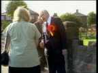 Shots of campaigning for Warrington byelection ENGLAND Warrington MS Douglas Hoyle campaigning and greets girl in street Stan Sorrell RL through...