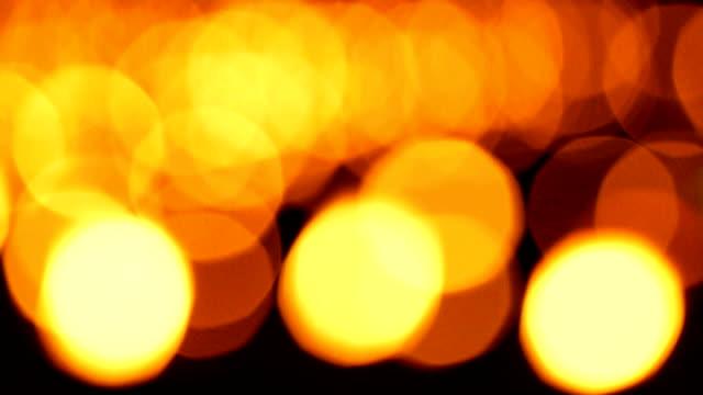 3 Aufnahmen von Kerze Hintergrund Orange verschwommene Unscharf gestellt