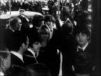 FILM 'HELP' PREMIERED ENGLAND LONDON 5 shots MS Princess Margaret and Lord Snowdon from car shake