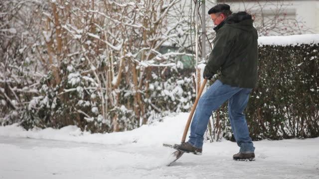 Shoveling winter snow