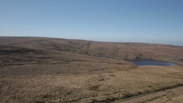 Shows aerial shots panning across Saddleworth Moor Ian Brady one of the most notorious criminals in British history has died at the age of 79 In...