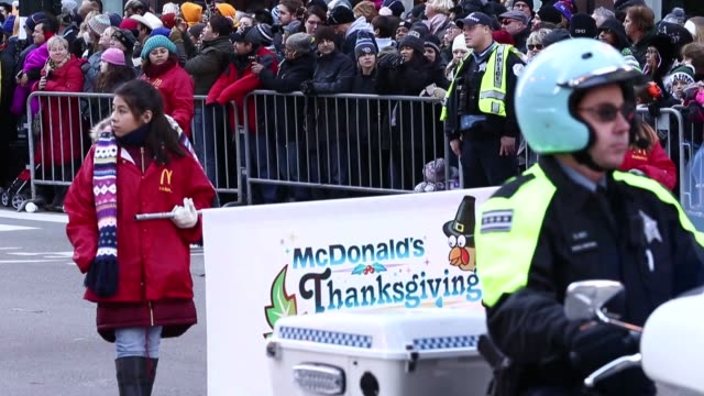 Shows and performances held at State street within the 84th Annual Thanksgiving Day parade in Chicago IL United States on November 23 2017