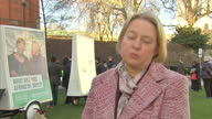 Shows exterior shot Natalie Bennett talking about the television debates how the pressure is on the broadcasters to allow the Green Party into the...