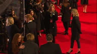 Shows Exterior shots actor Domhnall Gleeson signing autographs talking to press and posing for photos on red carpet The 2016 BAFTAS Film Awards...