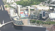 Shows exterior shots aerials BBC MediaCityUk building in Salford on August 12 2015 in Salford England