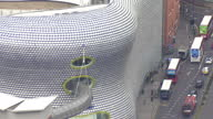 Shows exterior shots aerials Birmigham bullring Selfridge's on August 12 2015 in Birmingham England