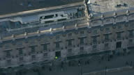 Shows exterior shots aerials over Whitehall zoom in to Downing St on January 20 2015 in London England
