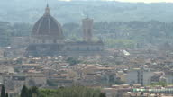 Shows exterior shots Florence city skyline including the Duomo of Santa Maria del Fiore Exterior shots European University Institute tuscan villa and...