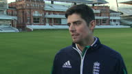 Shows exterior shots former England Cricket Captain Alistair Cook interview soundbite speaking on advice for the next captain Alastair Cook has...