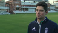 Shows exterior shots former England Cricket Captain Alistair Cook interview soundbite on Kevin Pietersen Alastair Cook has spoken of his sadness at...