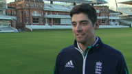 Shows exterior shots former England Cricket Captain Alistair Cook interview soundbite on experience of being captain Alastair Cook has spoken of his...