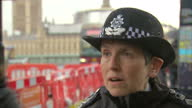 Shows exterior shots interview soundbite with Metropolitan Police Commissioner Cressida Dick speaking on support for Police Officers following strain...