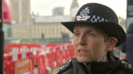 Shows exterior shots interview soundbite with Metropolitan Police Commissioner Cressida Dick speaking on UK's Threat Level raised to Critical after...