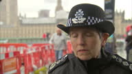 Shows exterior shots interview soundbite with Metropolitan Police Commissioner Cressida Dick speaking on Parsons Green Terror Attack the response of...