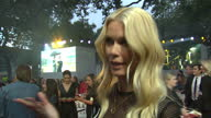 CLEAN Shows exterior shots interview with model and actress Claudia Schiffer speaking on making the film on the orange carpet at the World Premiere...