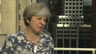 Shows exterior shots interview with UK Prime Minister Theresa May speaking on UK Cabinet Ministers agreement on plans for BREXIT Theresa May and...