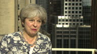 Shows exterior shots interview with UK Prime Minister Theresa May speaking on Boris Johnson and programme of issues at UN General Assembly including...