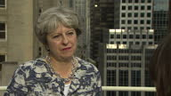 Shows exterior shots interview with UK Prime Minister Theresa May speaking on not sacking Boris Johnson Theresa May and Boris Johnson face an awkward...