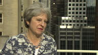 Shows exterior shots interview with UK Prime Minister Theresa May speaking on Boris Johnson and UK Governmnet plans for BREXIT Theresa May and Boris...