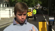 Shows exterior shots interview with witness to Parsons Green Tube Explosion Terror Attack and scenes of panic amongst crowd of commuters An extensive...