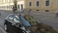 Shows exterior shots motorcade of UK Prime Minister Theresa May arrinving in Florence for Brexit speech Theresa May will attempt to break the...