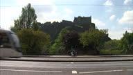 Shows exterior shots of Edinburgh public transport on 31st May 2014 in Edinburgh Scotland