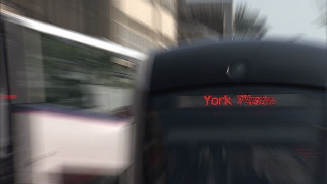 Shows exterior shots of public transport in Edinburgh city centre on 31st May 2014 in London England