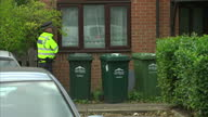 Shows exterior shots police officers outside a property in Stanwell Surrey of interest in the Parsons Green Terror Attack investigation The UKs...