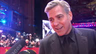 Shows Exterior shots red carpet premiere of Hail Caesar at the Berlin Film Festival with actor George Clooney and wife Amal Clooney and actor Tilda...
