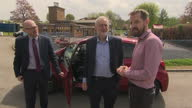 Shows exterior shots UK Labour Leader Jeremy Corbyn arriving for a campaign event It's the first weekend of the general election campaign and all the...