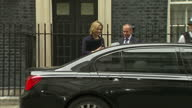 Shows exterior shots various members of the Cabinet leaving Downing Street after special Cabinet Meeting to discuss Brexit including Michael Fallon...