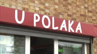 Shows exterior shots various Polish shops in Harlow Essex on August 31 2016 in Harlow England