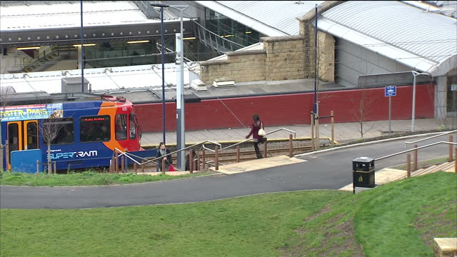 Shows exterior shots view across the Sheffield city skyline on January 13 2015 in Sheffield England
