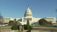 Shows exterior wide shot front of The United States Capitol Building on February 01 2017 in Washington DC