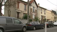 Shows Exterior wide shots and close up shots No 48 house on Rue Georges Tarral in Bobigny area of Paris which was raided by police in the hunt for...