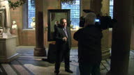 Shows interior shots Alex Salmond standing in front of portrait of himself at its unveiling on November 26 2015 in Edinburgh Scotland