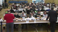 Shows interior shots ballot boxes arriving and votes being counted during Richmond Byelection vote count The Liberal Democrats have caused a major...